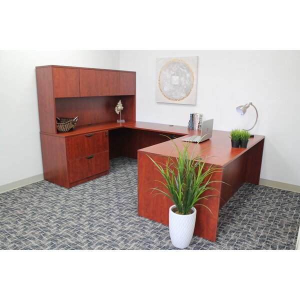 5 Piece U-Shape Desk Office Suite by Symple Stuff