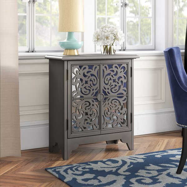 Brocklesby Mirrored Overlay 2 Door Accent Chest by House of Hampton