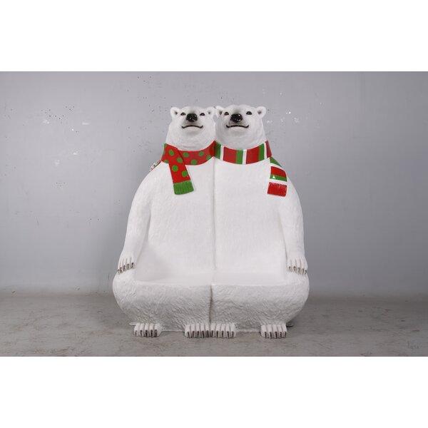 Liyuan Polar Bear Double Resin Garden Bench by The Holiday Aisle