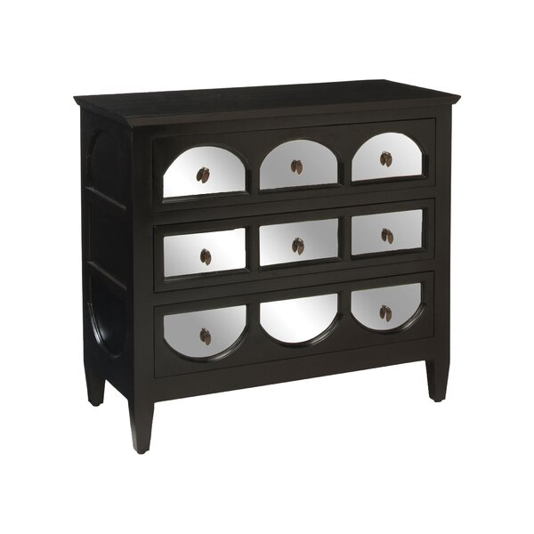 Sarah Mirrored 3 Drawer Accent Chest by Darby Home Co