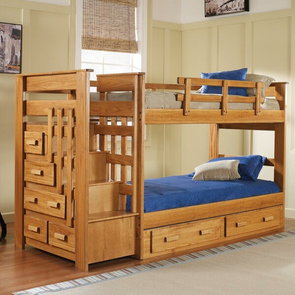 Twin over Twin Bunk Bed with Storage by Chelsea Home