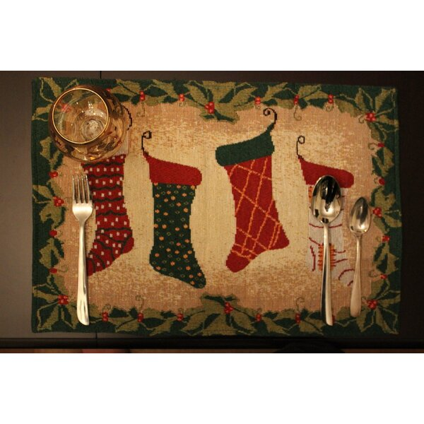 Stockings Placemat (Set of 4) by Tache Home Fashion