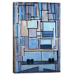 'Composition No. 9, 1914' by Piet Mondrian Print by East Urban Home