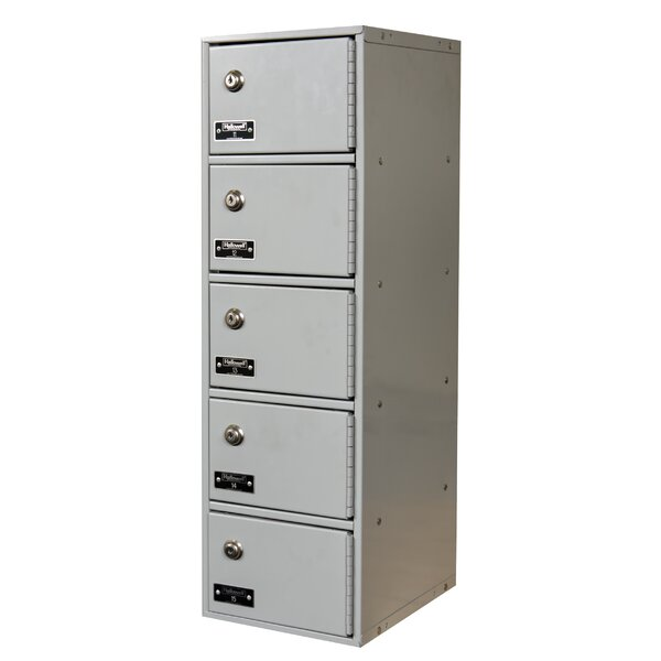 5 Door Cell Phone Locker by Hallowell