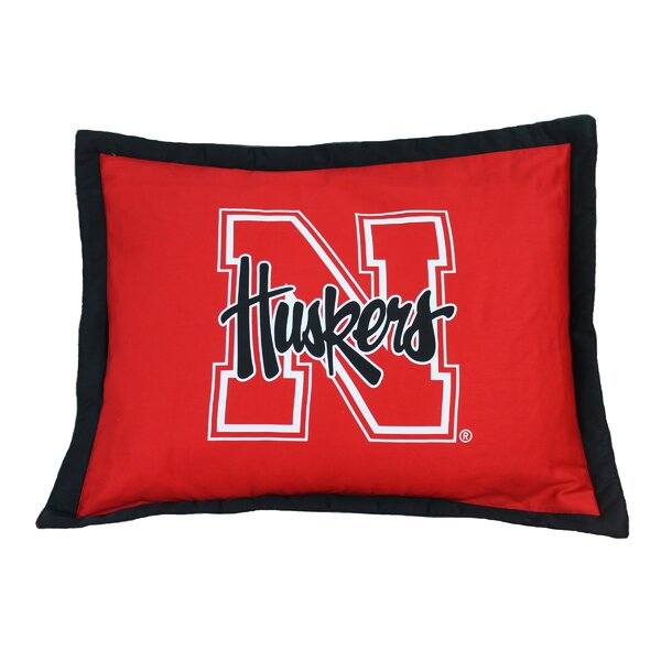 NCAA Nebraska Pillow Sham by College Covers