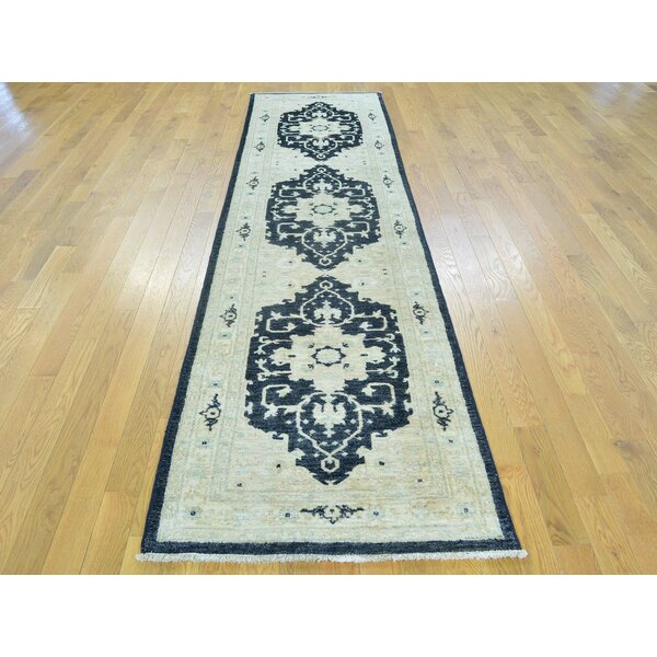One-of-a-Kind Beare Hand-Knotted Ivory Wool Area Rug by Isabelline