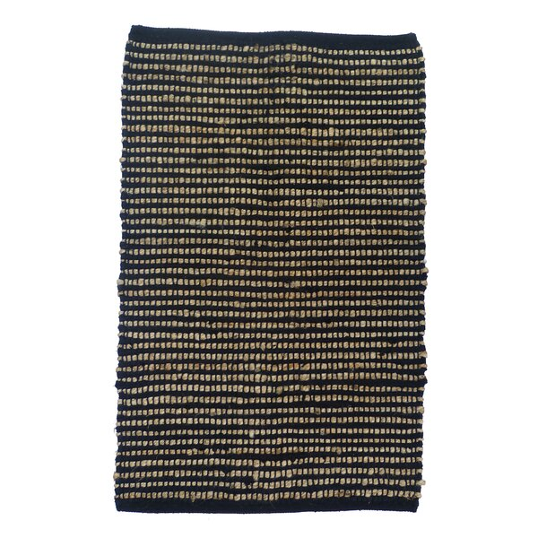 Sand Stripe Black/Gold Area Rug by Artim Home Textile