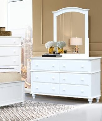 Eoin 6 Drawer Double Dresser with Mirror by Alcott Hill