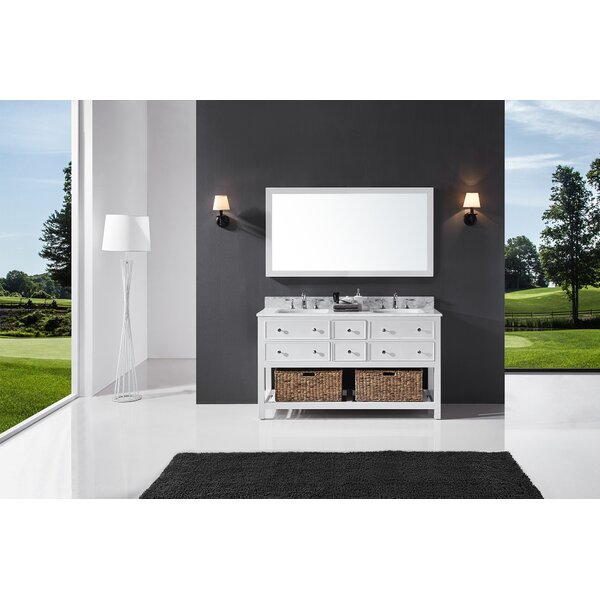 Celestia 60 Double Bathroom Vanity Set with Mirror by Three Posts