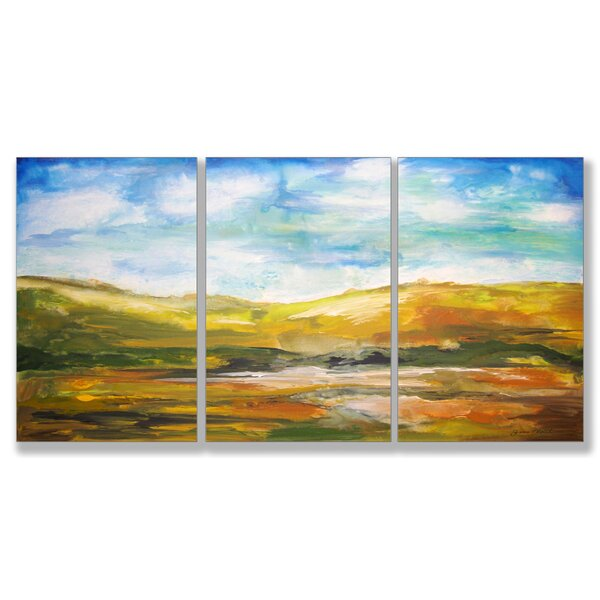 Painted Horizons Triptych 3 Piece Painting Print Wall Plaque Set by Stupell Industries