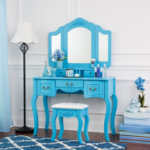 Val Vanity Set with Mirror by House of Hampton