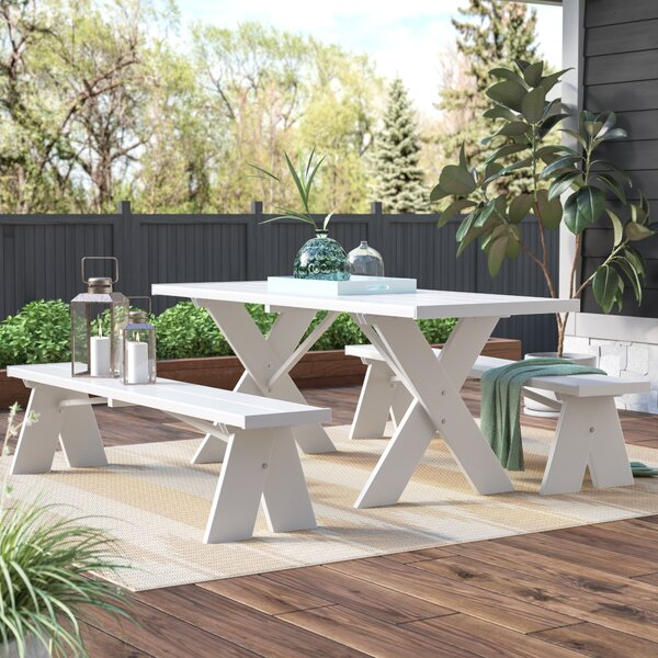 Wyona Plastic Picnic Table by Wrought Studio