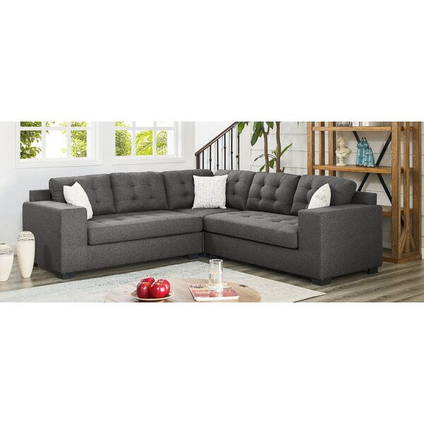 Online Review Whitnash Symmetrical Sectional by Ebern Designs by Ebern Designs