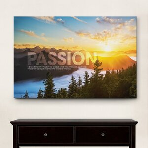 Infinity Edge Passion Sunrise Motivational Graphic Art on Wrapped Canvas by Successories