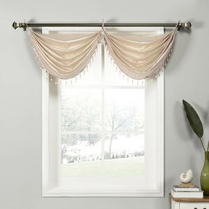 Shaftoe Silk Waterfall Window Curtain Valance