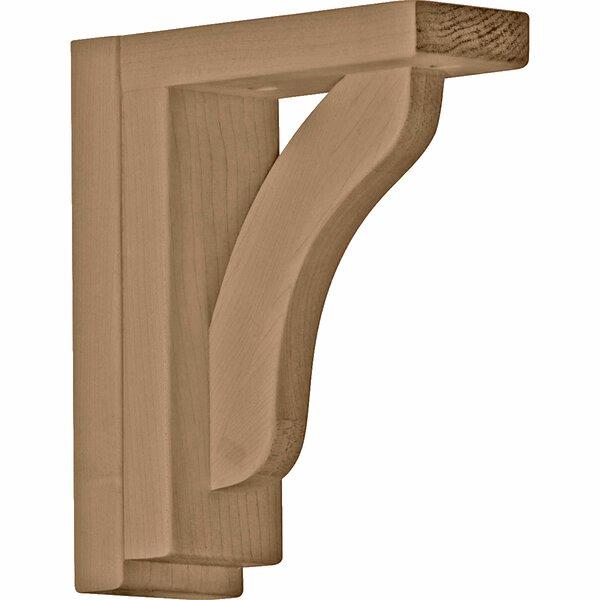 Reece 7 1/2H x 2 1/2W x 6 1/4D Shelf Bracket in Rubberwood by Ekena Millwork