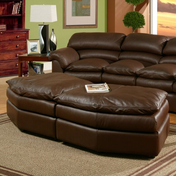 Canyon Leather Conversation Ottoman by Omnia Leather
