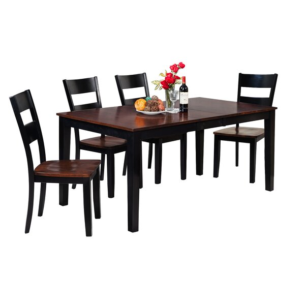 New Downieville-Lawson-Dumont 5 Piece Solid Wood Dining Set By Loon Peak Sale