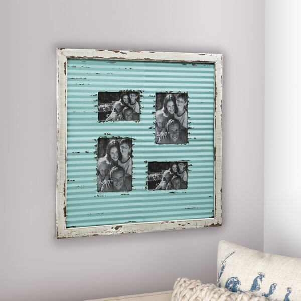 Corrugate Metal with Distressed Wood Picture Frame by Laurel Foundry Modern Farmhouse