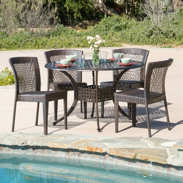 Tumlin 5 Piece Dining Set by Highland Dunes