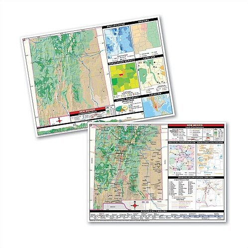 Thematic Deskpad Map - New Mexico by Universal Map