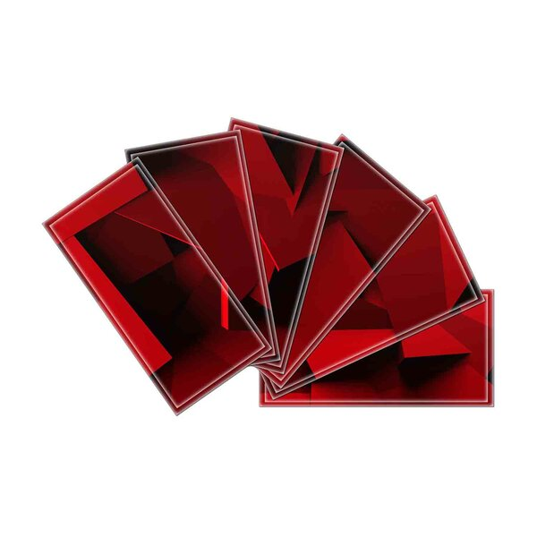 Crystal 3 x 6 Beveled Glass Subway Tile in Dark Red by Upscale Designs by EMA