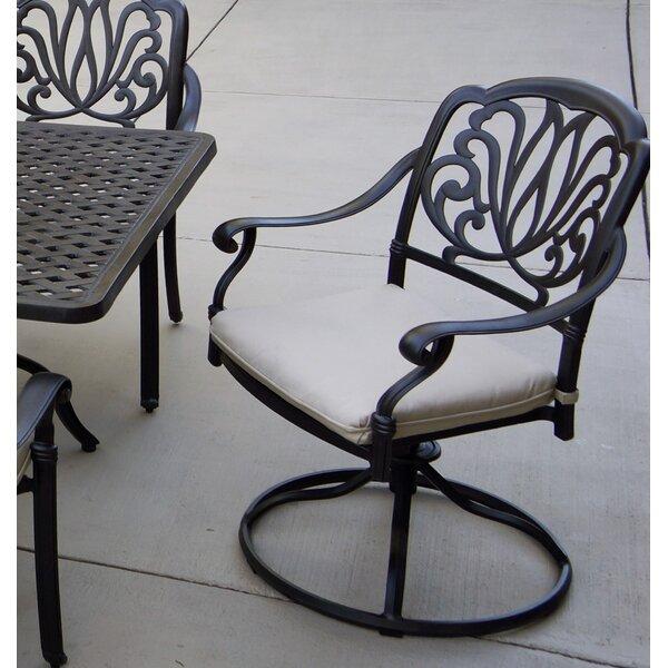 Coshocton Patio Swivel Rocker Chair with Cushion (Set of 4) by Fleur De Lis Living Fleur De Lis Living