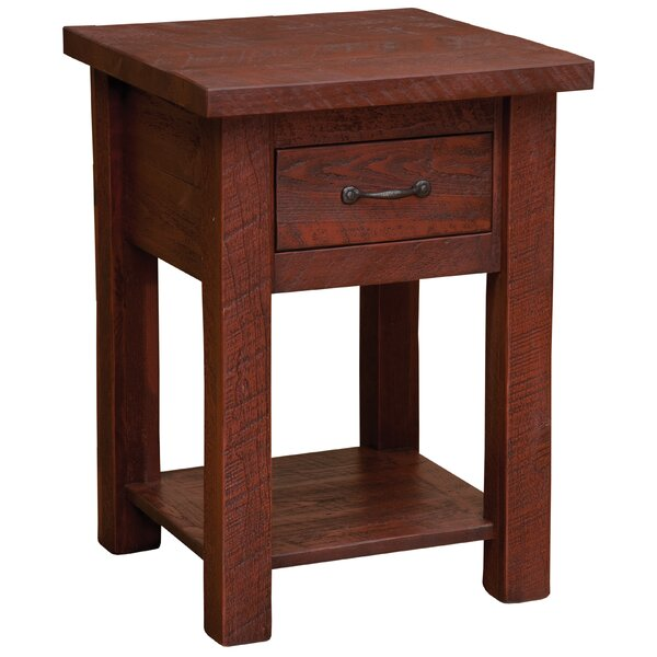 Devereaux 1 Drawer Nightstand with Shelf by Union Rustic