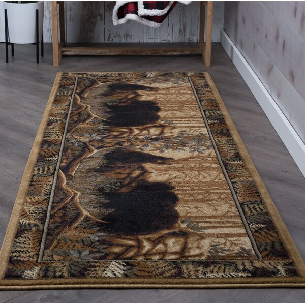Josephine Beige/Brown Area Rug by Threadbind