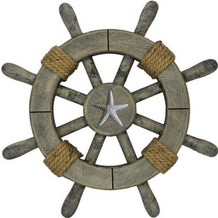 Ship Wheel With Starfish Wall Décor. By Handcrafted Nautical Decor