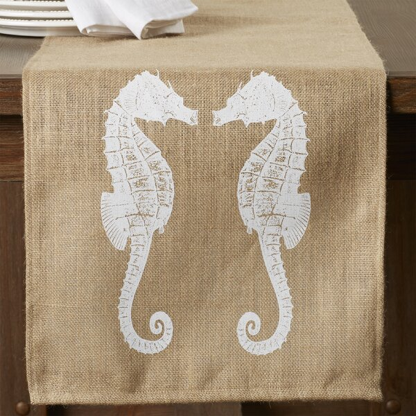 Heatherfield Burlap Table Runner by Beachcrest Home