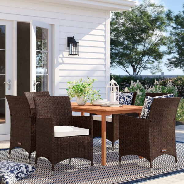 Great price Brighton 7 Piece Dining Set With Cushions By Sol 72 Outdoor Today Only Sale