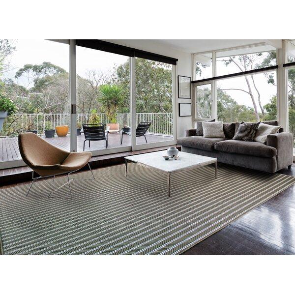 Ariton Striped Tan Olive Indoor/Outdoor Area Rug