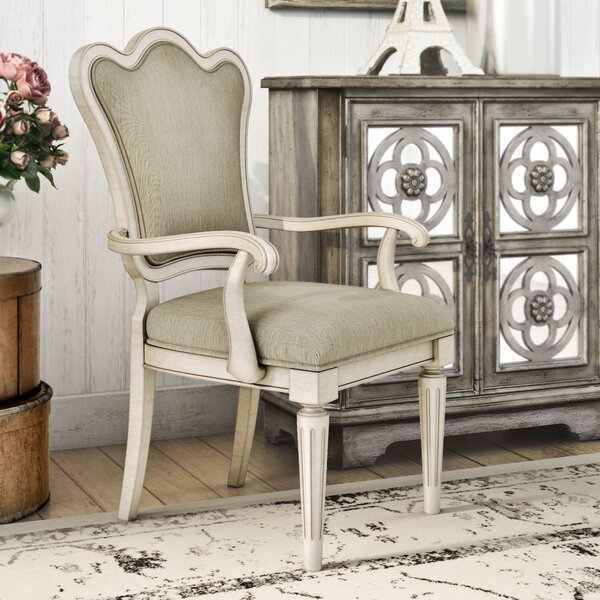 Daniella Upholstered Back Arm Chair (Set of 2) by Lark Manor