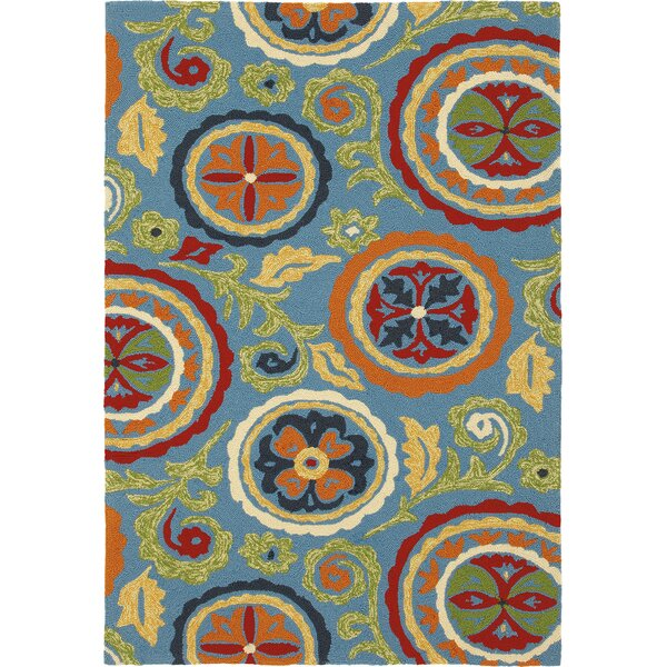 Fair Winds Blue Indoor/Outdoor Area Rug by CompanyC