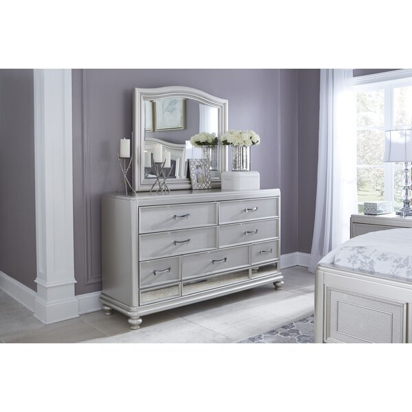 Guillaume 7 Drawer Double Dresser with Mirror by Willa Arlo Interiors