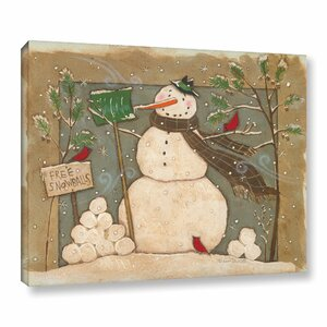 Seasonal Snowman Painting Print on Wrapped Canvas by The Holiday Aisle