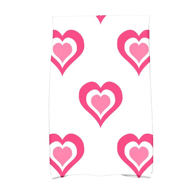 Love is in the Air Valentine Print Hand Towel by The Holiday Aisle
