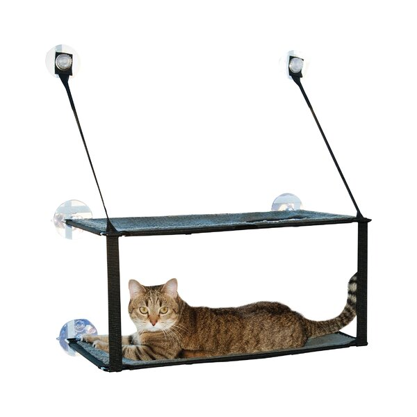 Kitty Sill Double Stack Ez Window Mount Cat Perch by K&H Manufacturing