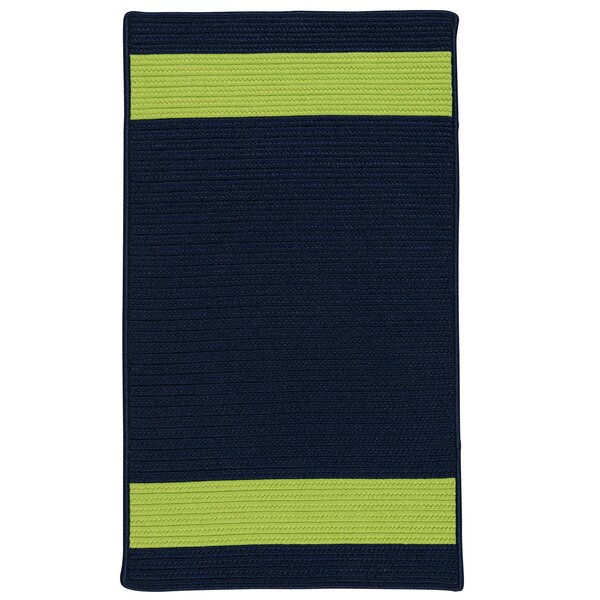 Sumrall Hand-Braided Navy/Green Indoor/Outdoor Area Rug by Bay Isle Home