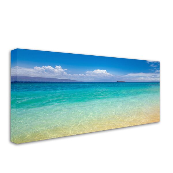 Blue Beach Maui by Pierre Leclerc Photographic Print on Wrapped Canvas by Trademark Fine Art