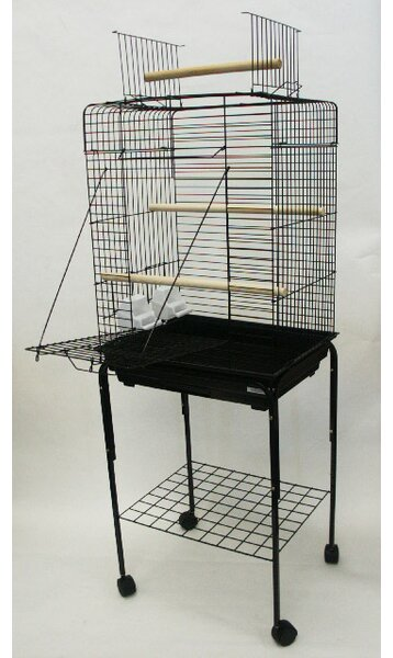 Open Play Top Small Parrot Bird Cage with Stand by YML