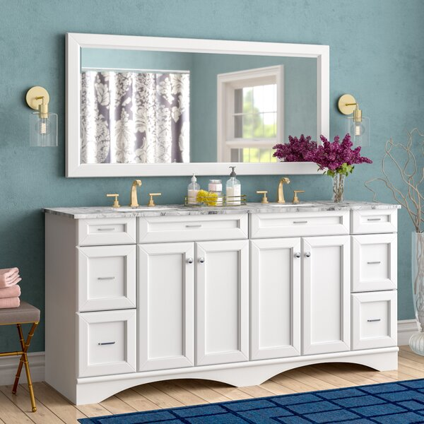Madi 72 Double Bathroom Vanity Set with Mirror by Willa Arlo Interiors