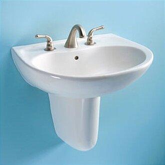 Toto Supreme Ceramic 23 Quot Semi Pedestal Bathroom Sink