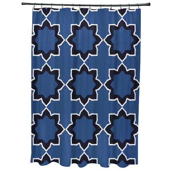 Meetinghouse Bohemian Geometric Print Shower Curtain by Bungalow Rose