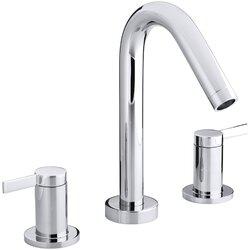 Bathroom Faucet Not Flowing kohler stillness deck-mount bath faucet trim for high-flow valve