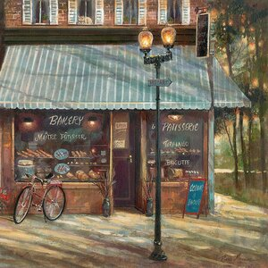'Pastry Shop' Painting Print on Canvas by East Urban Home