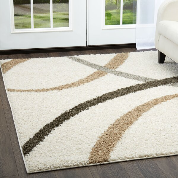 Synergy White Area Rug by Nicole Miller
