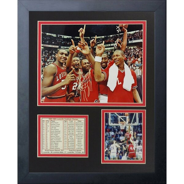 1986 Louisville Cardinals Champions Framed Memorabilia by Legends Never Die