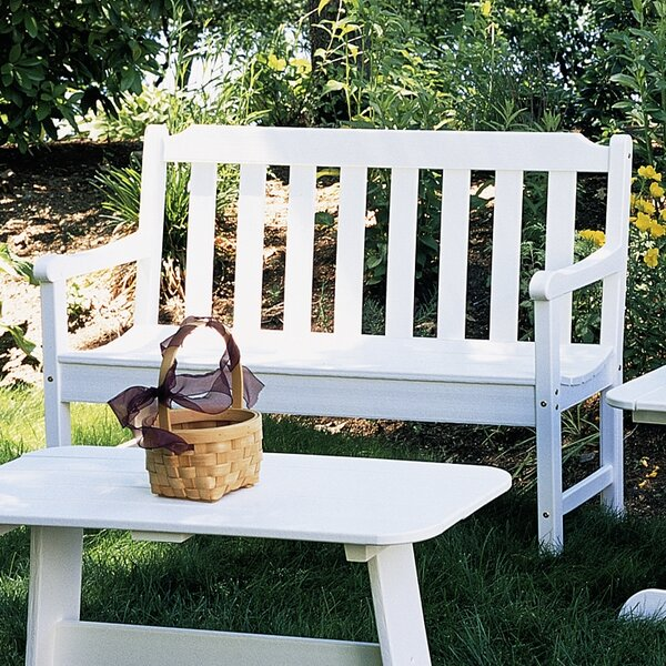 Newport Plastic Garden Bench by Seaside Casual